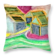 Where Mother Lives  Throw Pillow