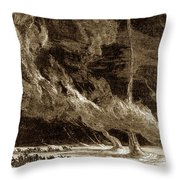 Whirlwinds, 1873 Throw Pillow