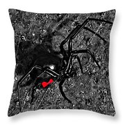 Wicked Widow - Selective Color Throw Pillow