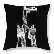 Wilt Chamberlain (1936-1999) Throw Pillow
