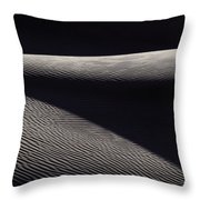 Wind-rippled Sand Dunes In Death Valley Throw Pillow