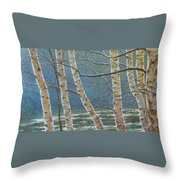 Winter Is Over Throw Pillow