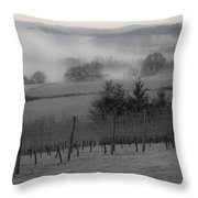 Winter Vineyard Throw Pillow
