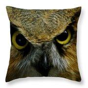 Wise Old Owl Throw Pillow