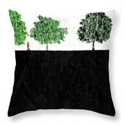Woman In The Park  Throw Pillow