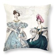 Womens Fashion, 1833 Throw Pillow by Granger