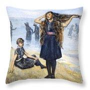 Womens Fashion, 1886 Throw Pillow