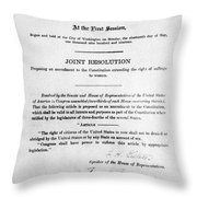 Womens Rights Movement Throw Pillow