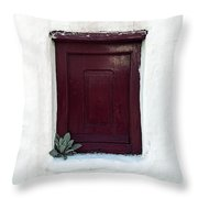 Wooden Window Throw Pillow