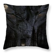 Woodland Home Throw Pillow