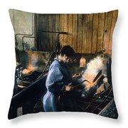 World War I: Women Workers Throw Pillow