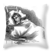 Wounded John Brown, 1859 Throw Pillow