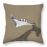 X-48b Blended Wing Body Throw Pillow
