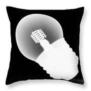 X-ray Of Lightbulb Throw Pillow