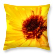Yellow Floral 01 Throw Pillow