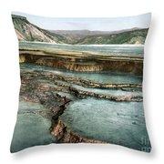 Yellowstone: Hot Spring Throw Pillow