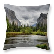 Yosemite's Valley View  Throw Pillow