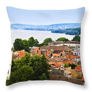 Zemun Rooftops In Belgrade Throw Pillow