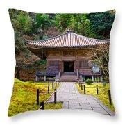 Zen Garden At A Sunny Day Throw Pillow