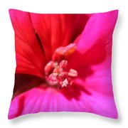 Zonal Geranium Named Tango Neon Purple Throw Pillow