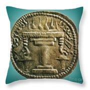 Zoroastrian Fire Altar Throw Pillow