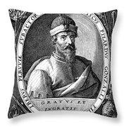 Francisco Pizarro Throw Pillow