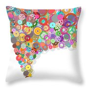 Gears Wheels Design  Throw Pillow