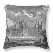 Great Britain: Parliament Throw Pillow