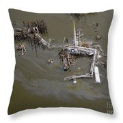 Hurricane Katrina Damage Throw Pillow