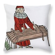 Pythagoras Greek Mathematician Throw Pillow by Science Source