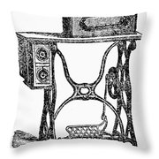 Sewing Machine Throw Pillow