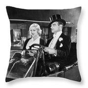 Silent Film: Automobiles Throw Pillow