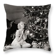 Silent Film Still Throw Pillow