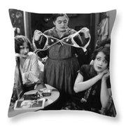 Silent Still: Showgirls Throw Pillow
