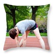 Stretching Exercises Throw Pillow