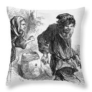 Taming Of The Shrew Throw Pillow