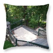 100 Steps At The Wissahickon Throw Pillow