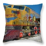 100 Years Of Union Pacific Railroading Throw Pillow