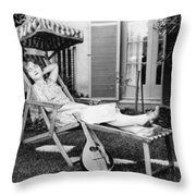 Silent Film Still: Woman Throw Pillow by Granger