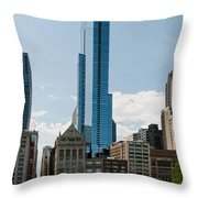 Chicago City Scenes Throw Pillow