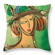 Girl Throw Pillow