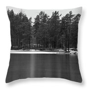 Haukkajarvi First Snow Throw Pillow