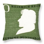 Heinrich Heine (1797-1856) Throw Pillow