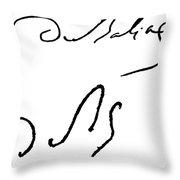 Honore De Balzac (1799-1850) Throw Pillow