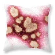 Influenza A Virus Throw Pillow