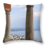 Madonna Del Sasso - Locarno Throw Pillow by Joana Kruse