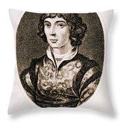 Nicolaus Copernicus, Polish Astronomer Throw Pillow