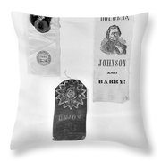 Presidential Campaign, 1860 Throw Pillow