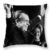 Richard Nixon (1913-1994) Throw Pillow