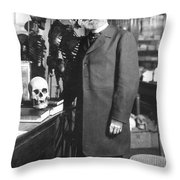 Rudolph Virchow, German Polymath Throw Pillow by Science Source